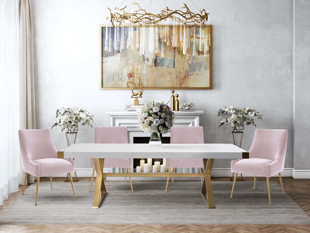 TOV Furniture - Beatrix Green Velvet Side Chair