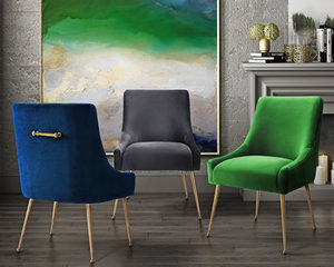Thumbnail of TOV Furniture - Beatrix Grey Velvet Side Chair