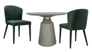 Thumbnail of TOV Furniture - Metropolitan Forest Green Velvet Chair
