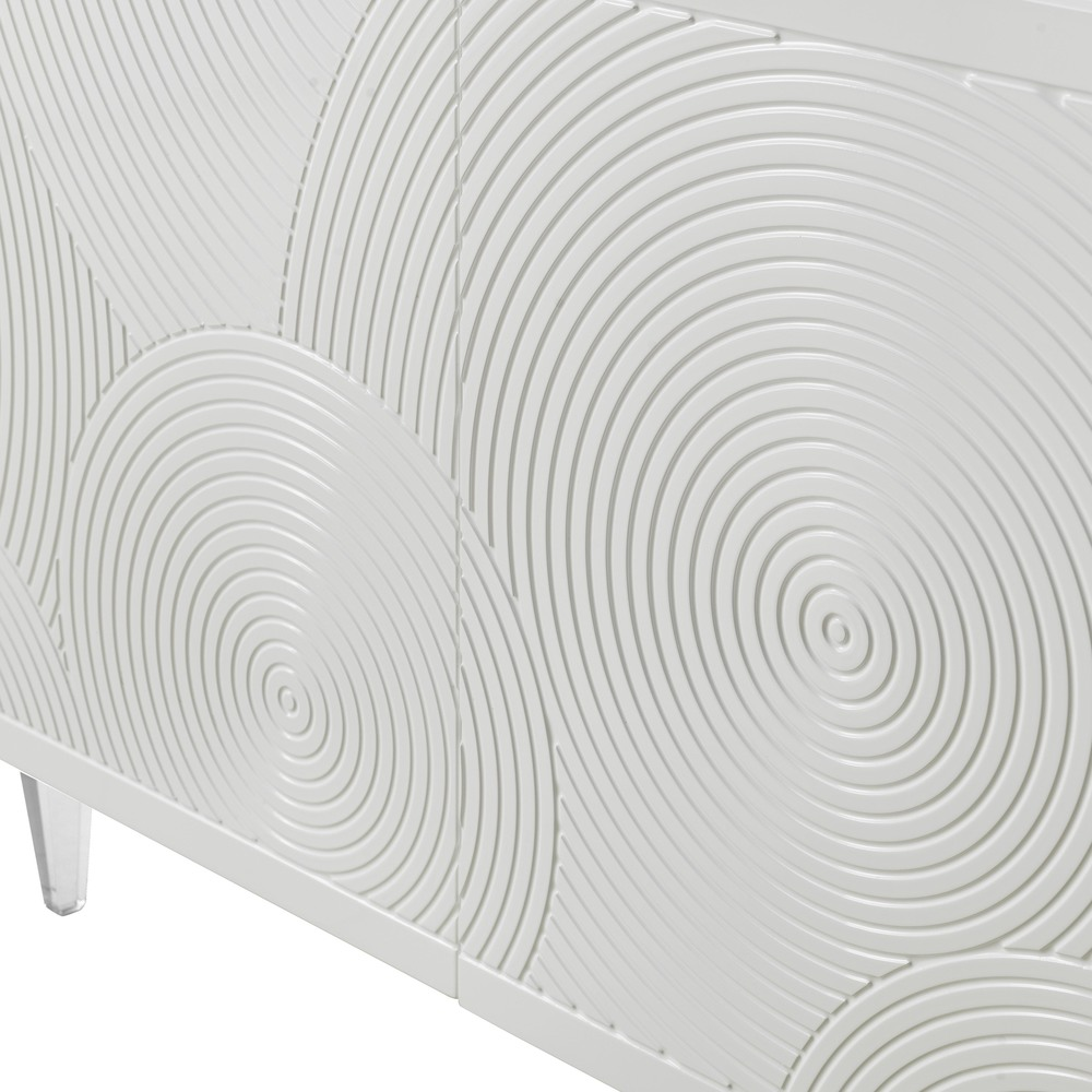TOV Furniture - Karma White Lacquer Buffet
