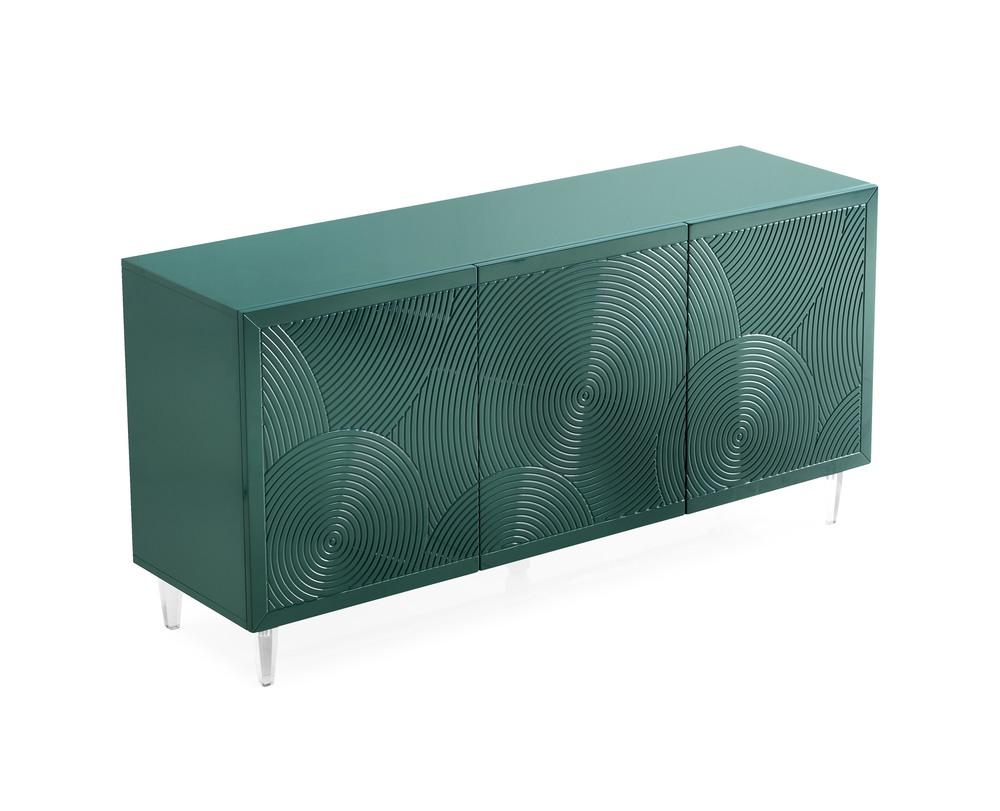 TOV Furniture - Karma Green Lacquer Buffet