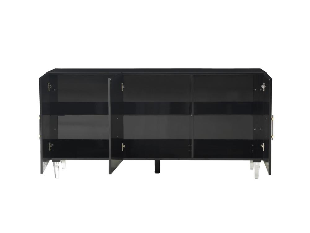 TOV Furniture - Famke Black Lacquer Buffet