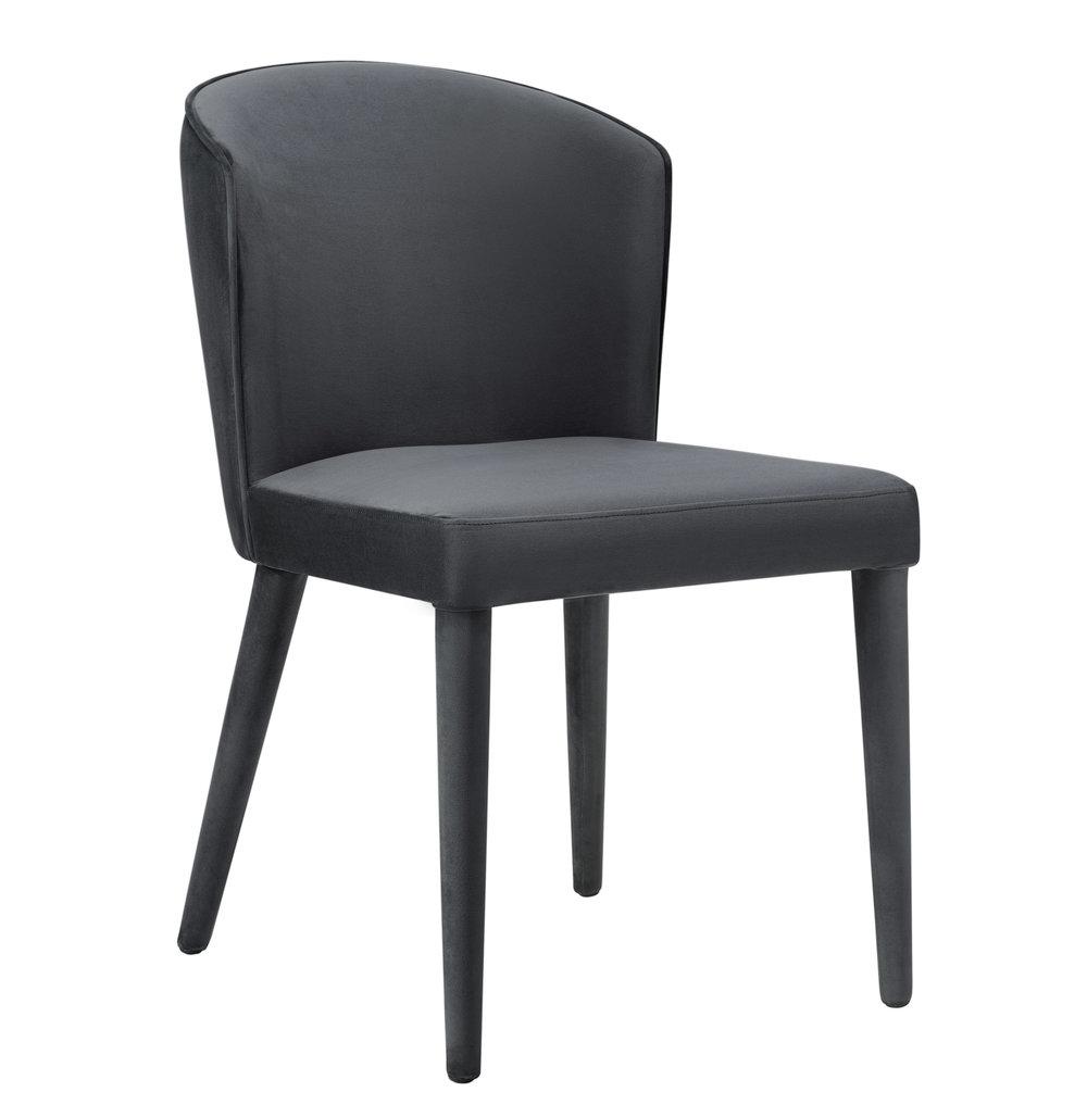 TOV Furniture - Metropolitan Grey Velvet Chair