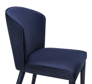Thumbnail of TOV Furniture - Metropolitan Navy Velvet Chair