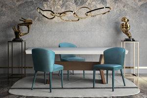 Thumbnail of TOV Furniture - Metropolitan Sea Blue Velvet Chair