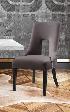 Thumbnail of TOV Furniture - Lipstick Grey Velvet Dining Chair