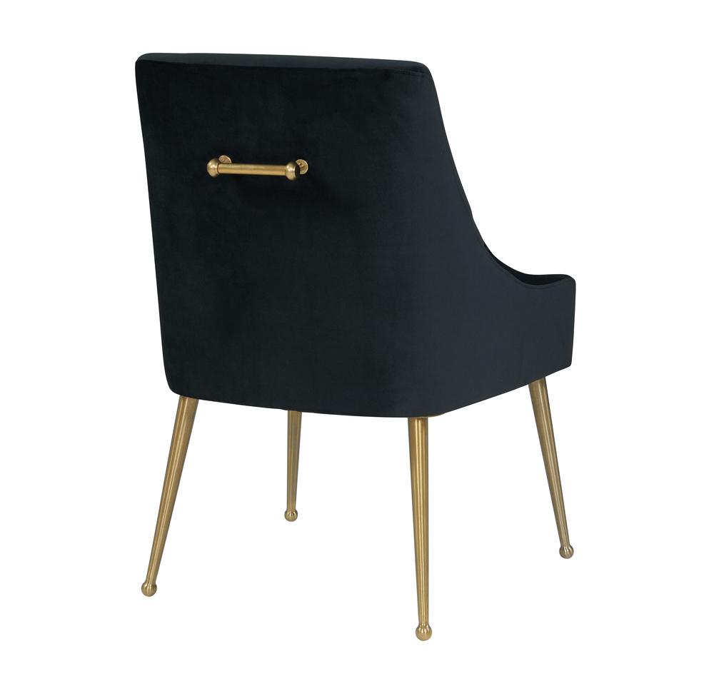 TOV Furniture - Beatrix Black Velvet Side Chair