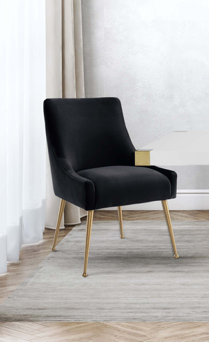 Thumbnail of TOV Furniture - Beatrix Black Velvet Side Chair
