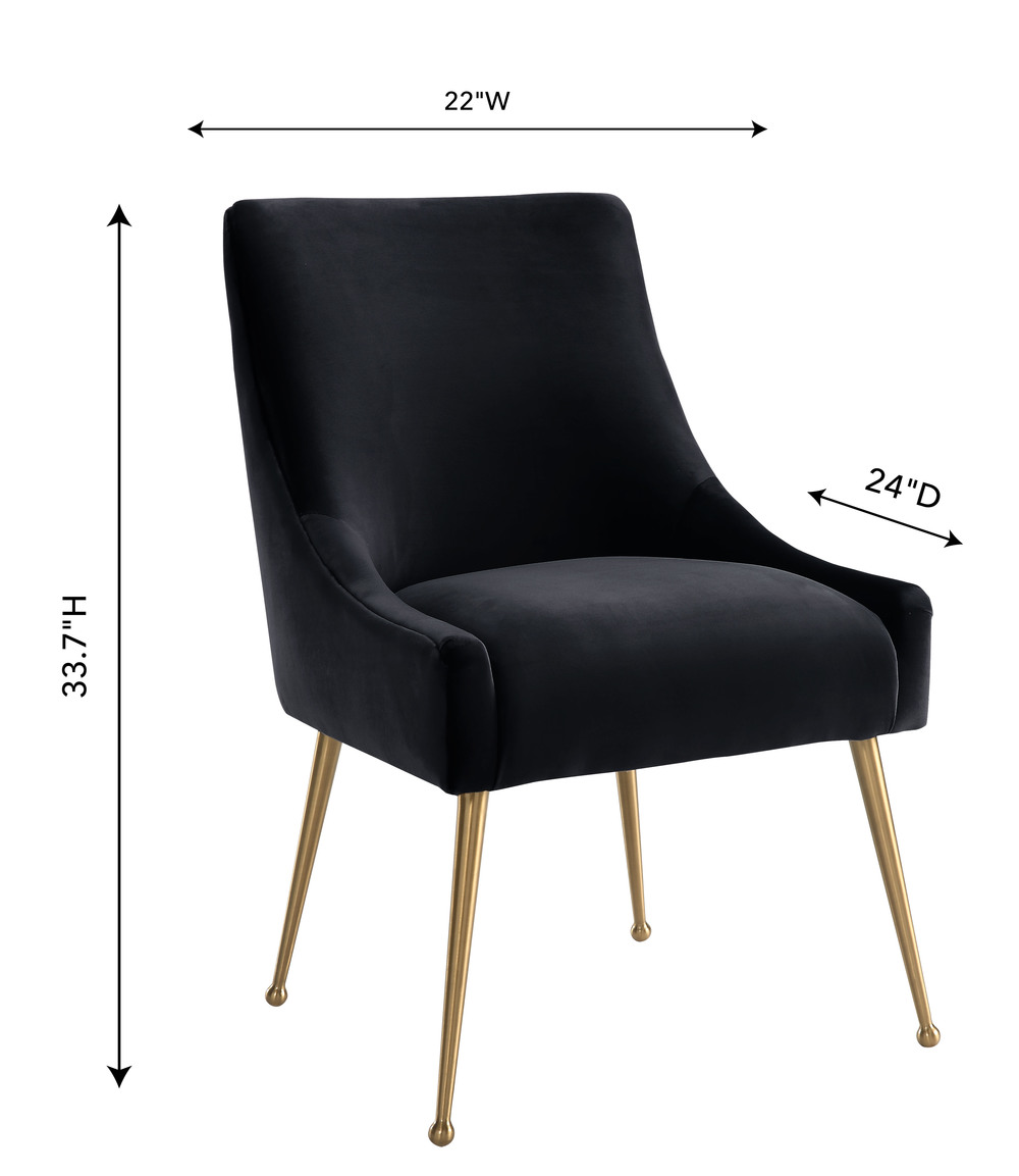 TOV Furniture - Beatrix Black Velvet Side Chair
