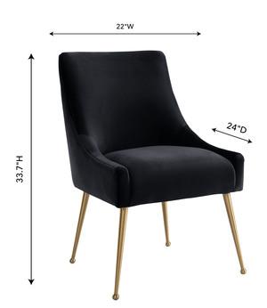 Thumbnail of TOV Furniture - Beatrix Black Velvet Side Chair