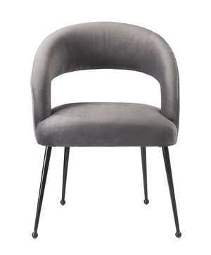 Thumbnail of TOV Furniture - Rocco Grey Velvet Dining Chair