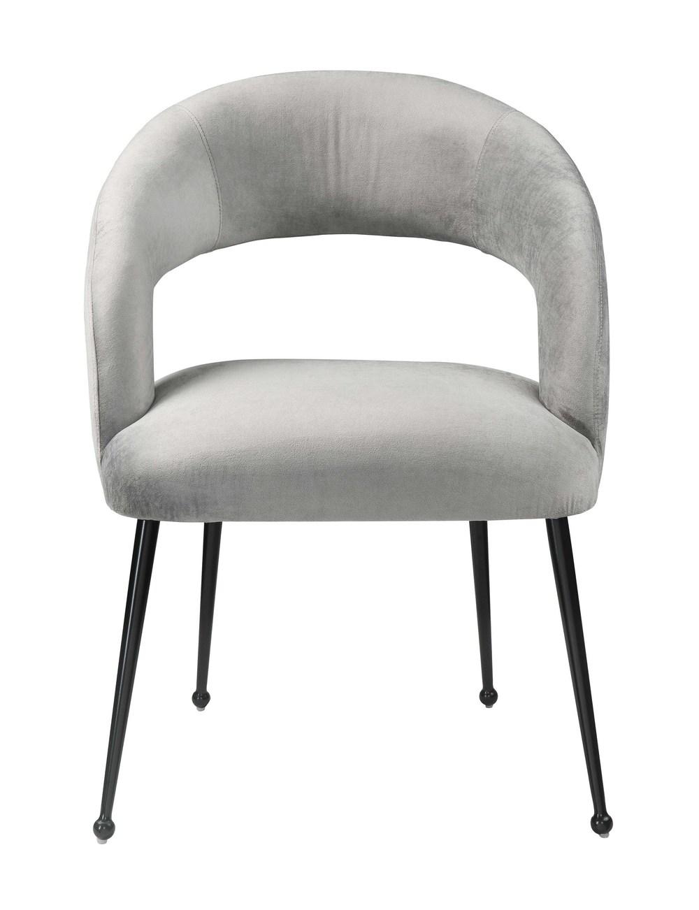 TOV Furniture - Rocco Slub Grey Dining Chair