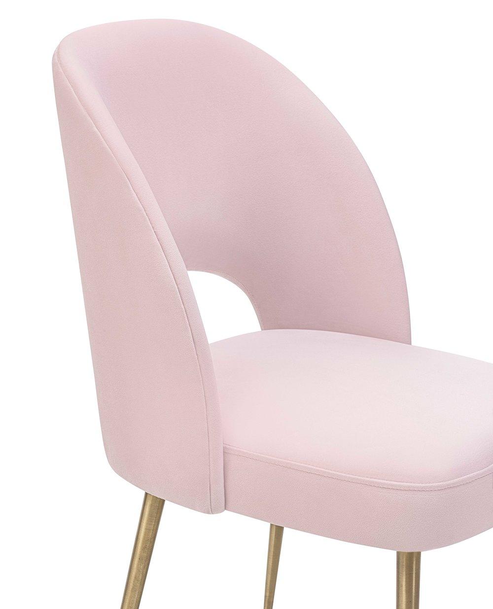 TOV Furniture - Swell Blush Velvet Chair