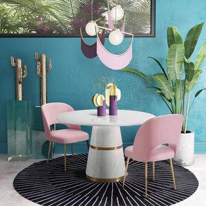 Thumbnail of TOV Furniture - Swell Blush Velvet Chair