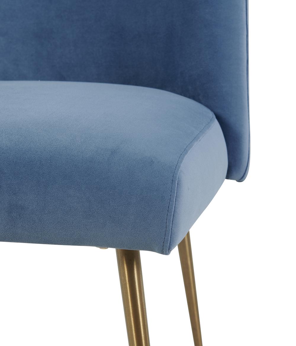 TOV Furniture - Batik Ocean Blue Velvet Dining Chair