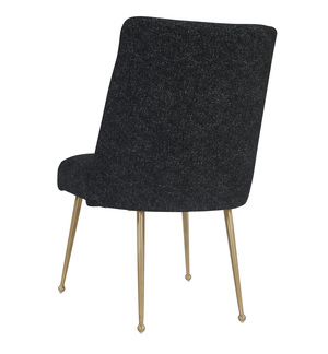 Thumbnail of TOV Furniture - Batik Black Textured Linen Dining Chair