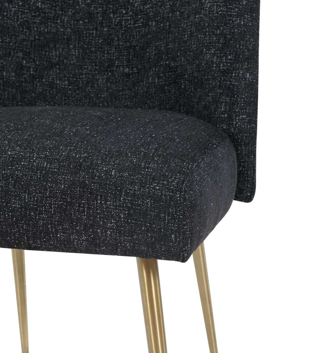 TOV Furniture - Batik Black Textured Linen Dining Chair