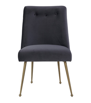 Thumbnail of TOV Furniture - Batik Grey Velvet Dining Chair