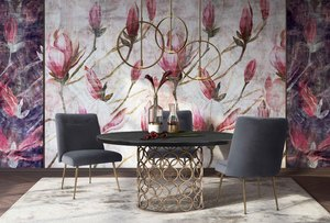 Thumbnail of TOV Furniture - Batik Grey Velvet Dining Chair