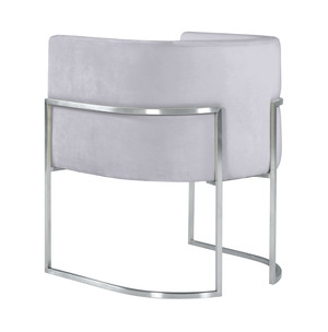 Thumbnail of TOV Furniture - Giselle Grey Velvet Dining Chair with Silver Leg