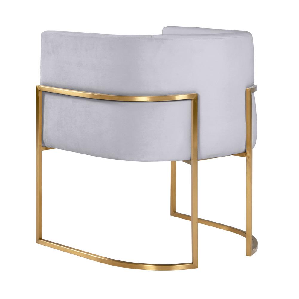 TOV Furniture - Giselle Grey Velvet Dining Chair with Gold Leg