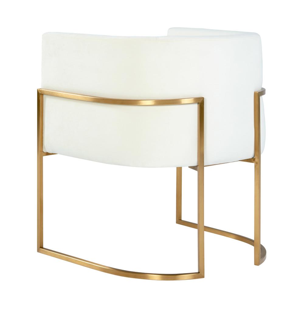 TOV Furniture - Giselle Cream Velvet Dining Chair Gold Leg