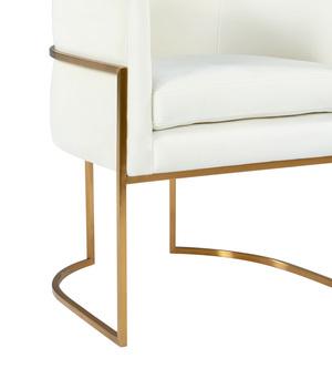 Thumbnail of TOV Furniture - Giselle Cream Velvet Dining Chair Gold Leg