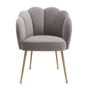 Thumbnail of TOV Furniture - Peony Grey Velvet Dining Chair