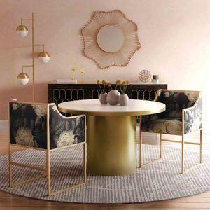 Thumbnail of TOV Furniture - Atara Floral Velvet Gold Chair