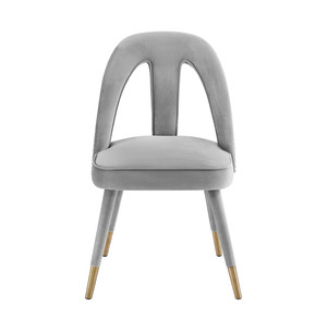 Thumbnail of TOV Furniture - Petra Light Grey Velvet Side Chair