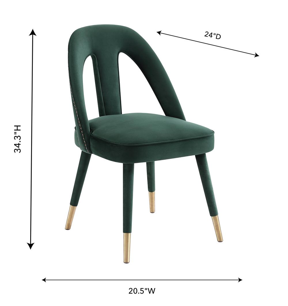 TOV Furniture - Petra Forest Green Velvet Side Chair