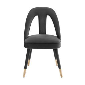 Thumbnail of TOV Furniture - Petra Dark Grey Velvet Side Chair