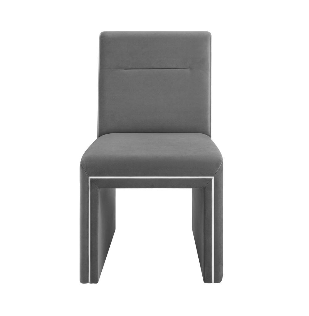 TOV Furniture - Jaffa Grey Performance Velvet Dining Chair