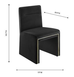 Thumbnail of TOV Furniture - Jaffa Black Performance Velvet Dining Chair