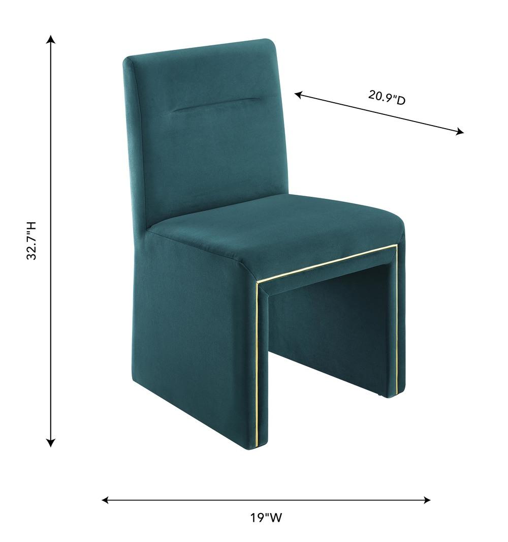 TOV Furniture - Jaffa Teal Performance Velvet Dining Chair