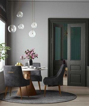 Thumbnail of TOV Furniture - Beatrix Pleated Grey Velvet Side Chair