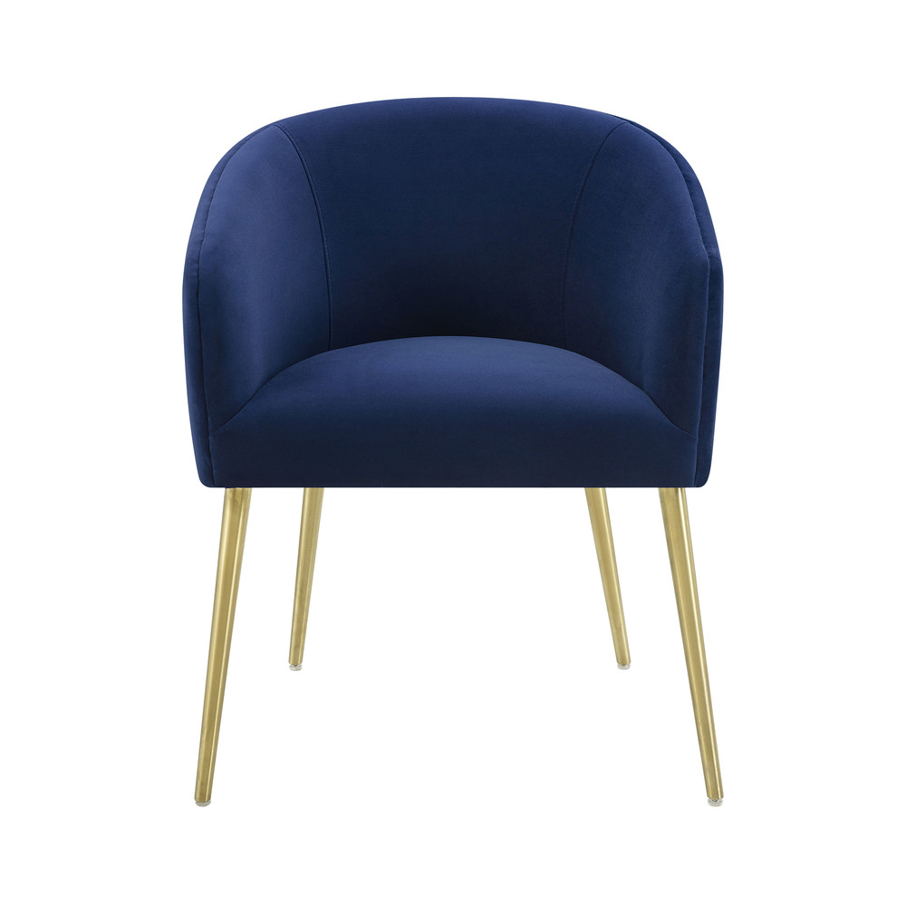 TOV Furniture - Arya Performance Velvet Navy Dining Chair