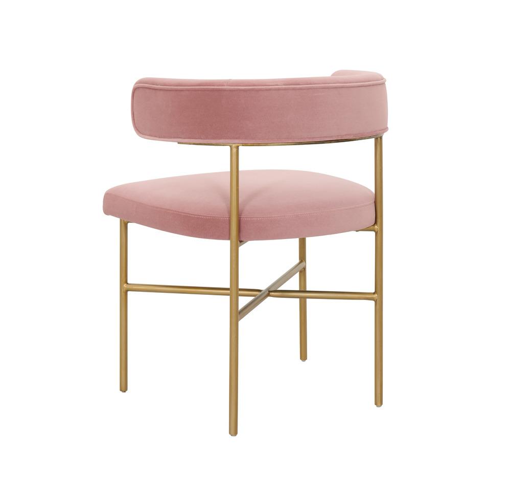 TOV Furniture - Kim Performance Velvet Chair in Blush