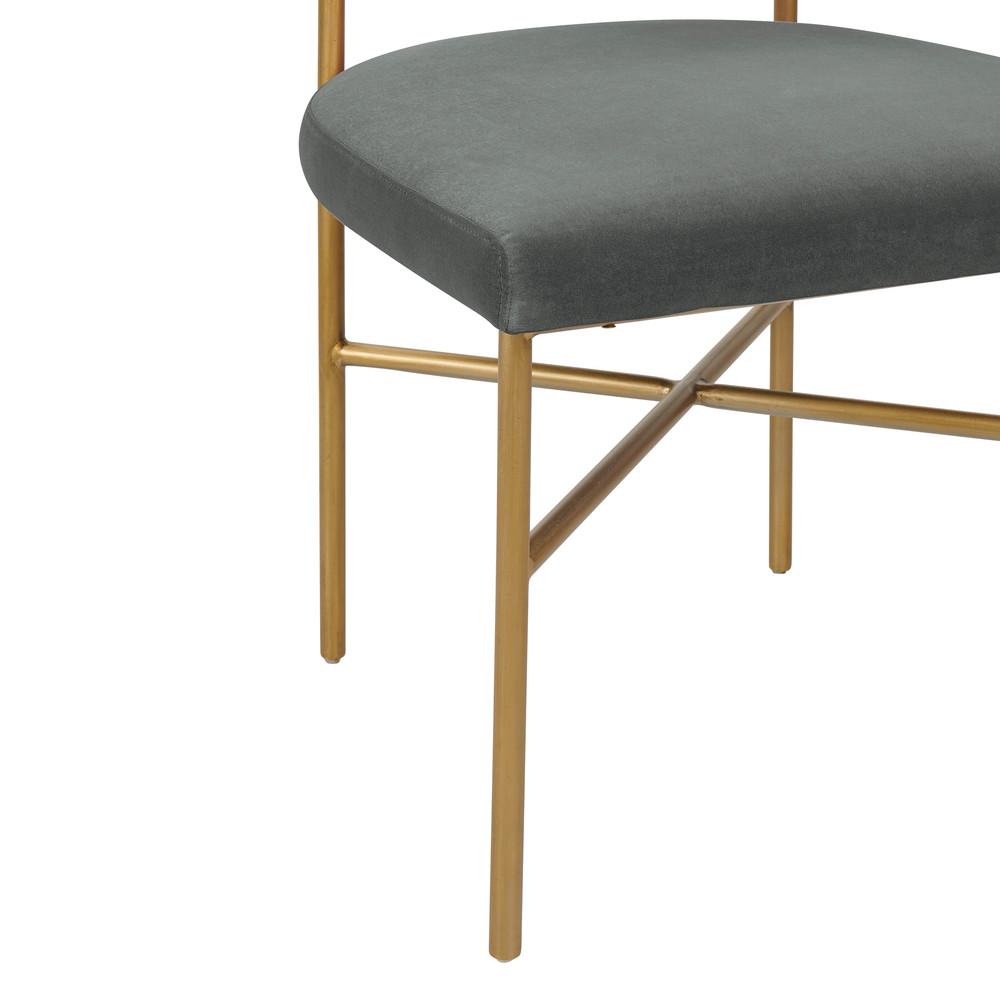 TOV Furniture - Kim Performance Velvet Chair in Grey