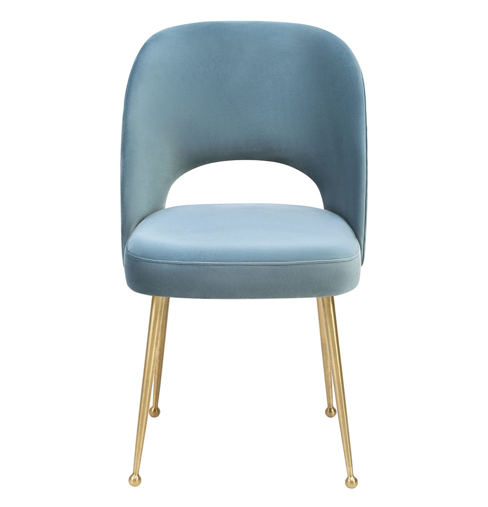 TOV Furniture - Swell Sea Blue Velvet Chair
