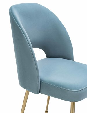 Thumbnail of TOV Furniture - Swell Sea Blue Velvet Chair