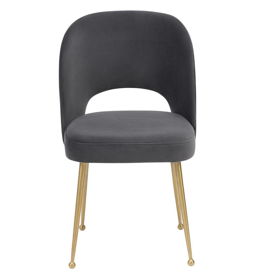 TOV Furniture - Swell Dark Grey Velvet Chair