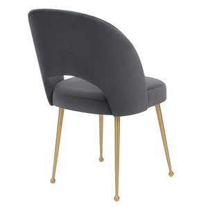 Thumbnail of TOV Furniture - Swell Dark Grey Velvet Chair