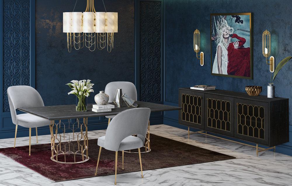 TOV Furniture - Swell Light Grey Velvet Chair