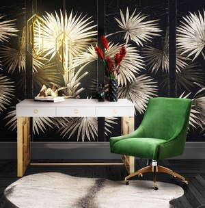 Thumbnail of TOV Furniture - Beatrix Green Office Swivel Chair