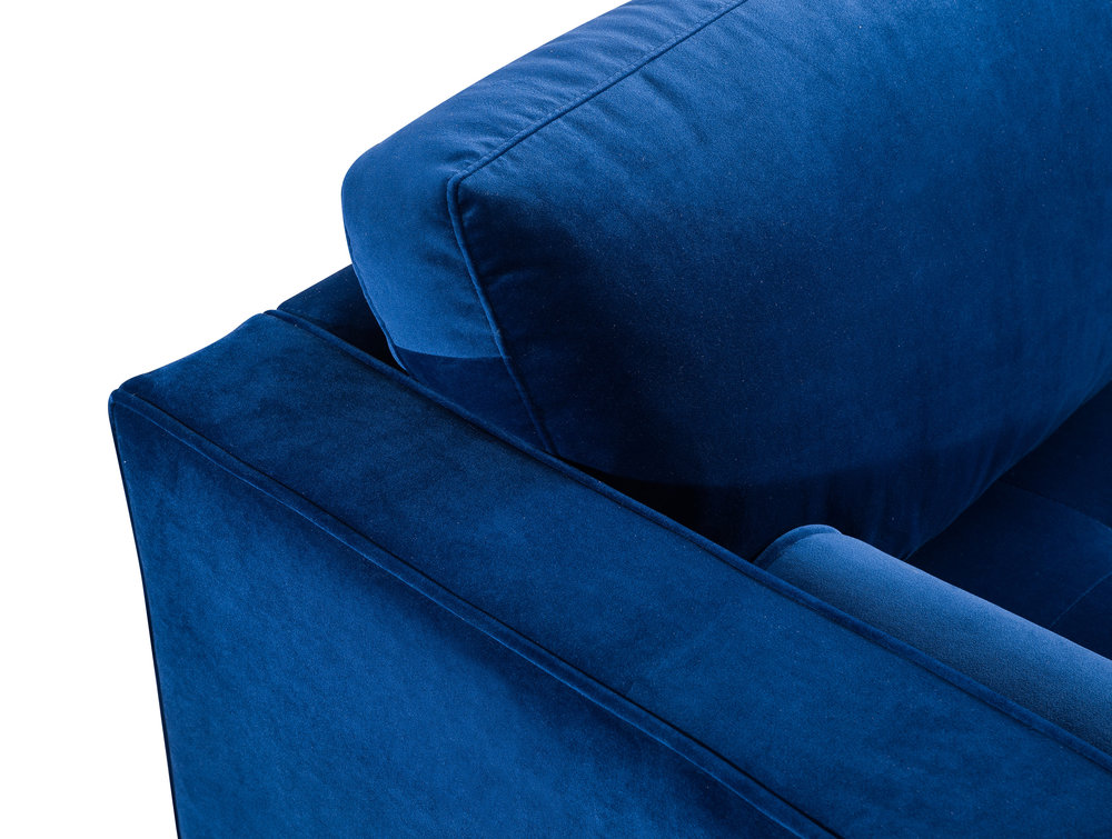 TOV Furniture - Como Navy Velvet Sectional Right Arm Facing