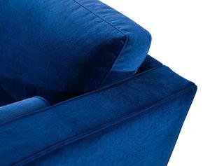 Thumbnail of TOV Furniture - Como Navy Velvet Sectional Left Arm Facing