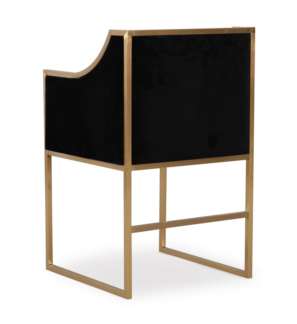 TOV Furniture - Atara Black Velvet Gold Chair