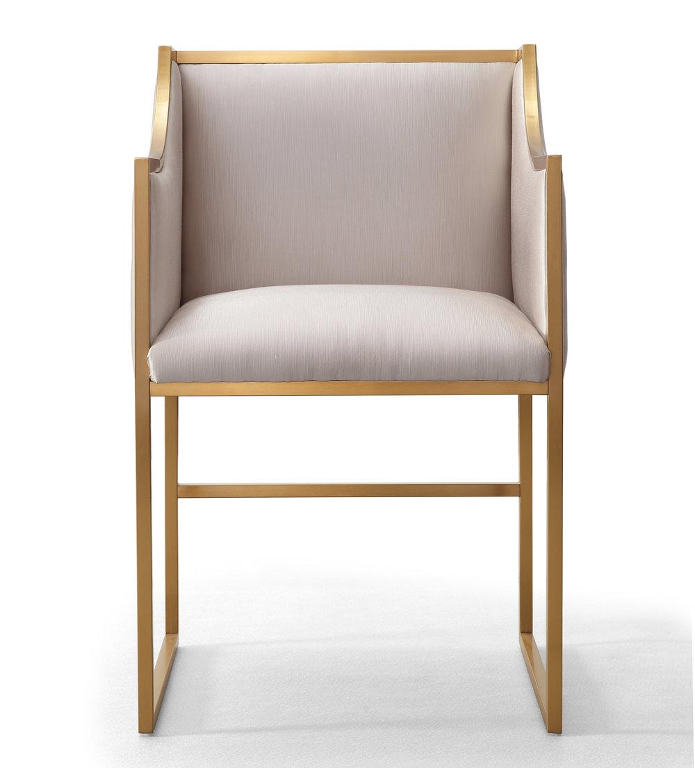 TOV Furniture - Atara Cream Velvet Gold Chair