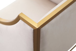 Thumbnail of TOV Furniture - Atara Cream Velvet Gold Chair